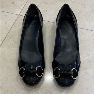 Black Bamboo with silver buckle Gucci Heels